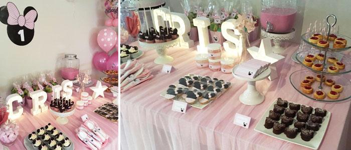 Mesa de dulces Minnie Mouse
