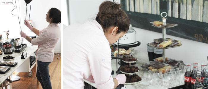 Mesa de dulces en Negro – Plata – Blanco