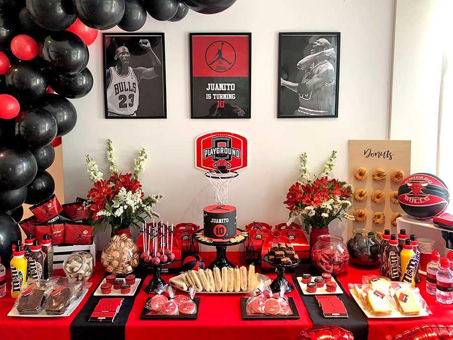 Mesa de dulces personalizada - Michael Jordan